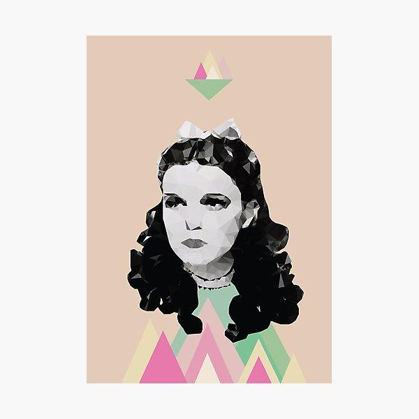 Dorothy //pastel triangles Photographic Print