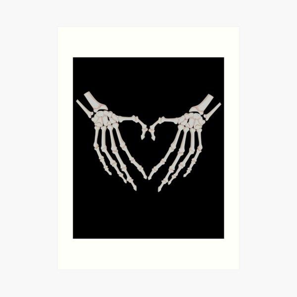 Rayos X Manos Corazón   Radiología Radiólogo Esqueleto Lámina artística