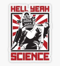 Hell Yeah, SCIENCE! Transparent Sticker