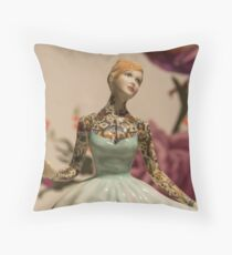 Tattooed Lady by Jessica Harrison at Banksy's Dismaland Throw Pillow