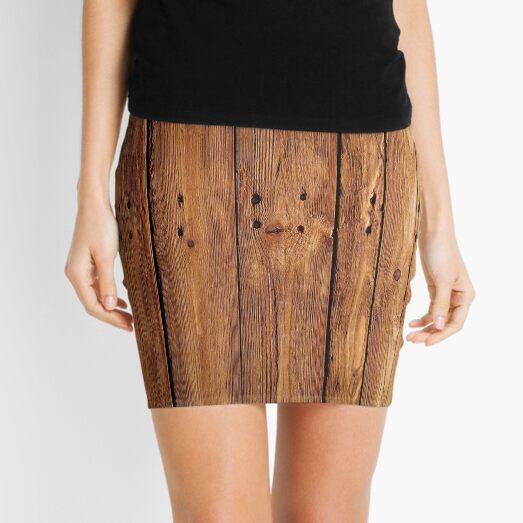 #wood, #hardwood, #dark, #log, carpentry, rough, pine, old, desk, horizontal, plank, flooring, wood paneling, backgrounds Mini Skirt
