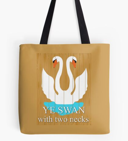 The Swan With 2 Necks Tote Bag