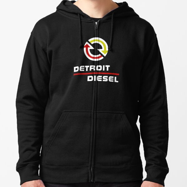 Detroit Diesel Zipped Hoodie