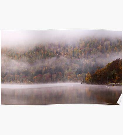 Mist on Loch Tay, Perthshire, Scotland Poster