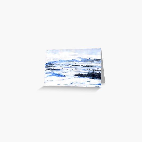 Snow on Bennachie Greeting Card