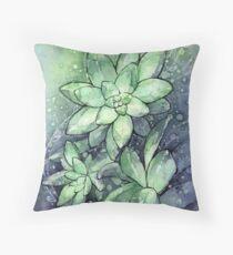 Succulent Watercolor Floor Pillow