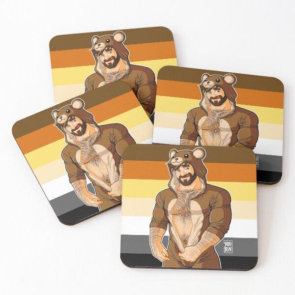 ADAM LIKES TEDDY BEARS - BEAR PRIDE Coasters (Set of 4)