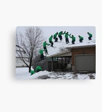 Ski Roof Montage Canvas Print