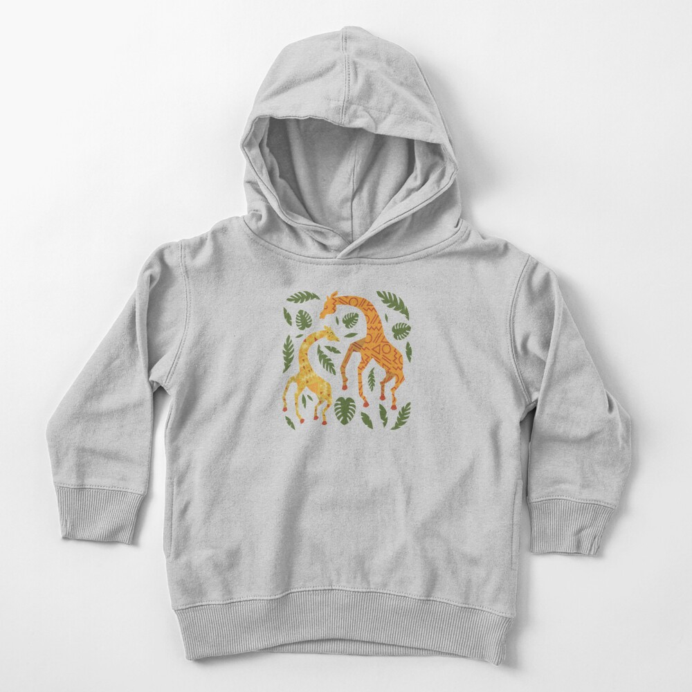 Dancing Giraffes with Patterns Toddler Pullover Hoodie