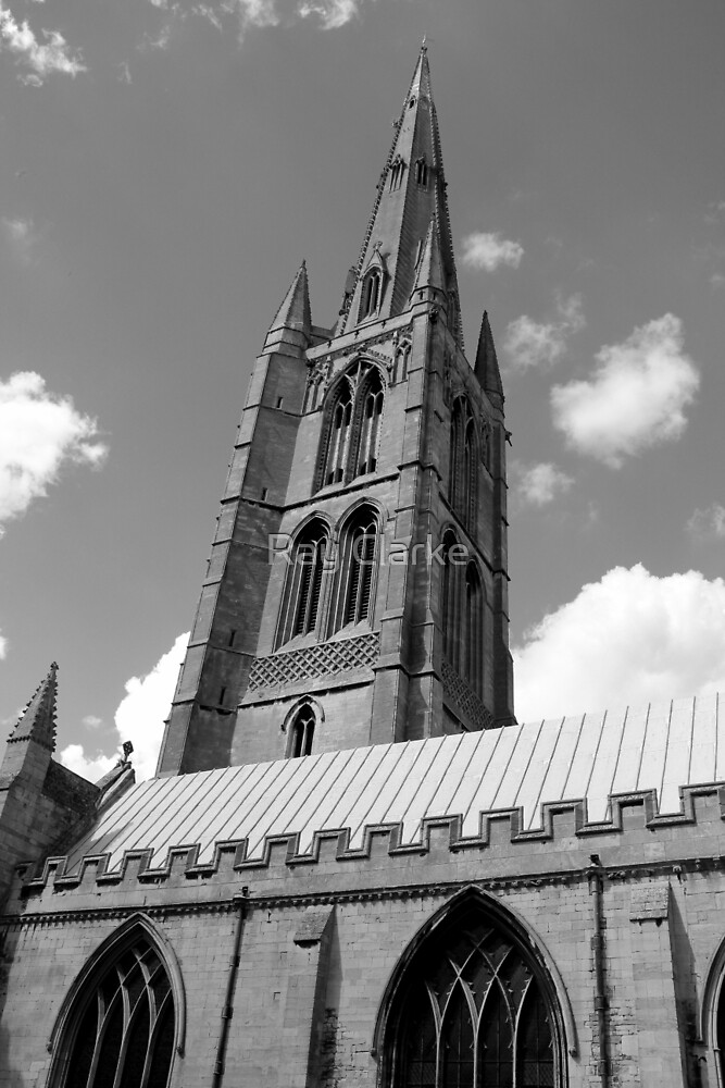 The Spire, St.Wulfram's Church Church, Grantham, England by Ray Clarke