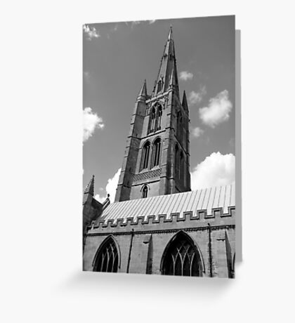 The Spire, St.Wulfram's Church Church, Grantham, England Greeting Card