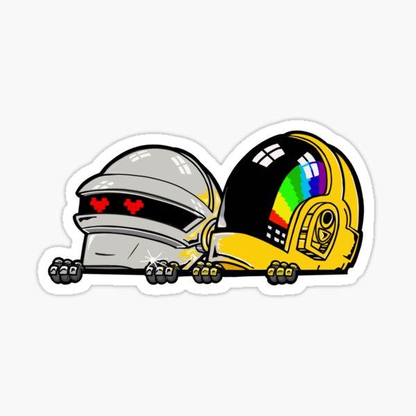 Peeping Daft Punk Sticker