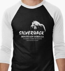 Silberrücken-Gorilla Baseballshirt für Männer