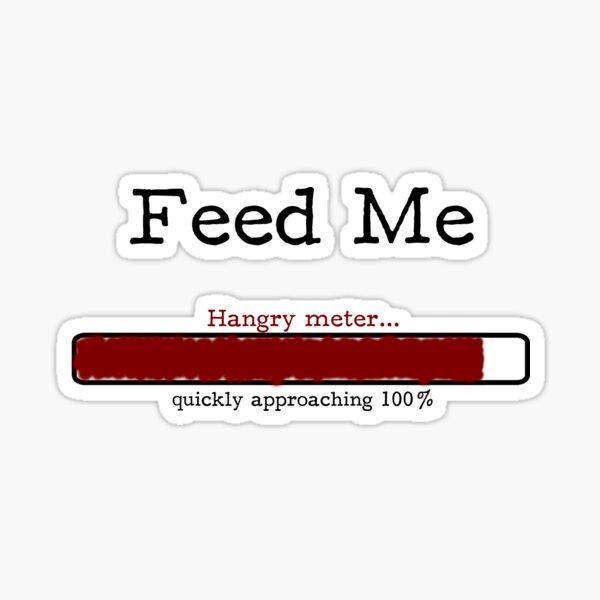 Feed Me - Hangry Meter (scribble) Sticker