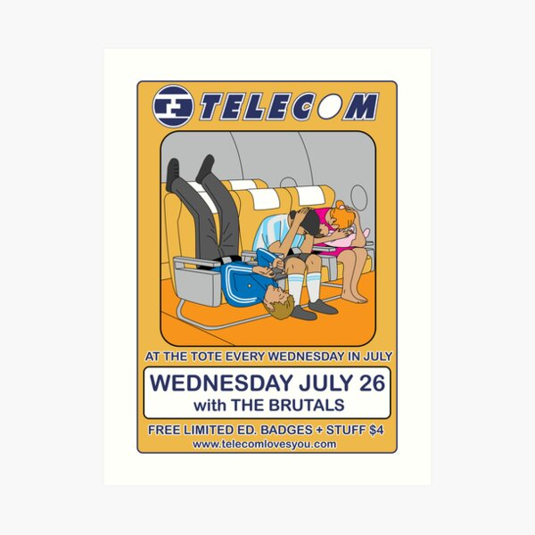 Telecom July Wednesday Residency at The Tote 2006: July 26 Art Print
