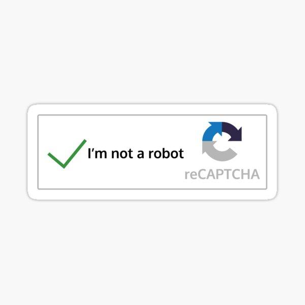 I'm not a robot Pegatina