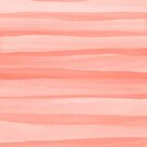 Light Peach Watercolor Lines Pattern by blueskywhimsy