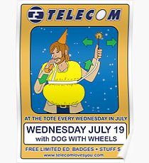 Telecom July Wednesday Residency at The Tote 2006: July 19  Poster