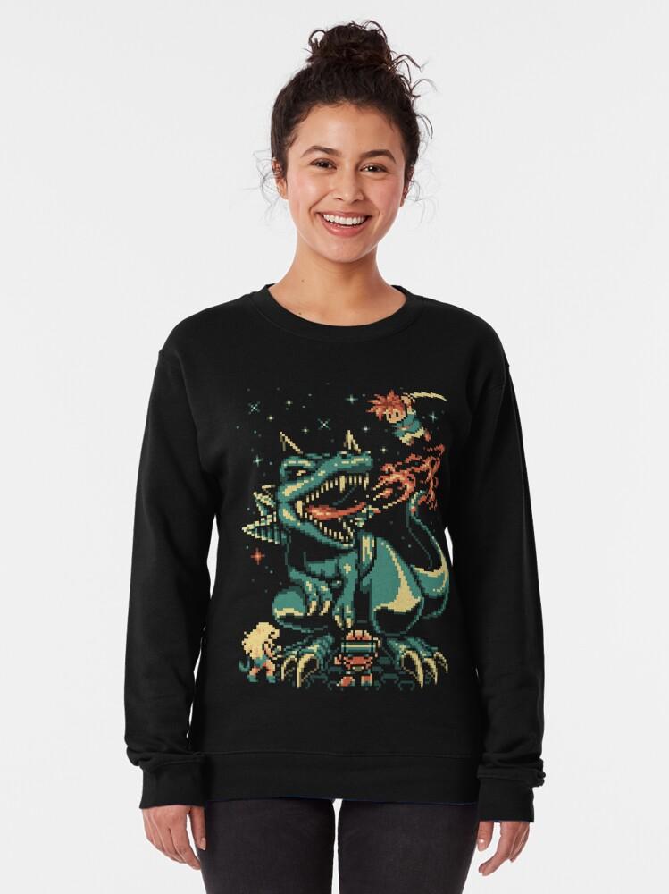 Alternate view of 8-bit Black Tyranno Pullover Sweatshirt