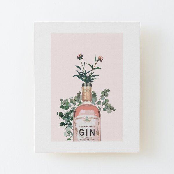 Pink Gin Artwork Wood Mounted Print