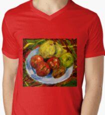 Still life with fruit Mens V-Neck T-Shirt