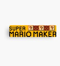 Super Mario Maker Canvas Print