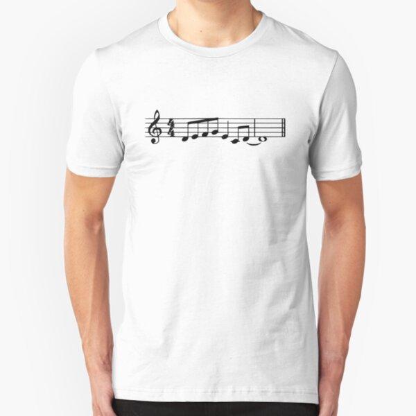 The Lick - Jazz Music Meme (white) Slim Fit T-Shirt