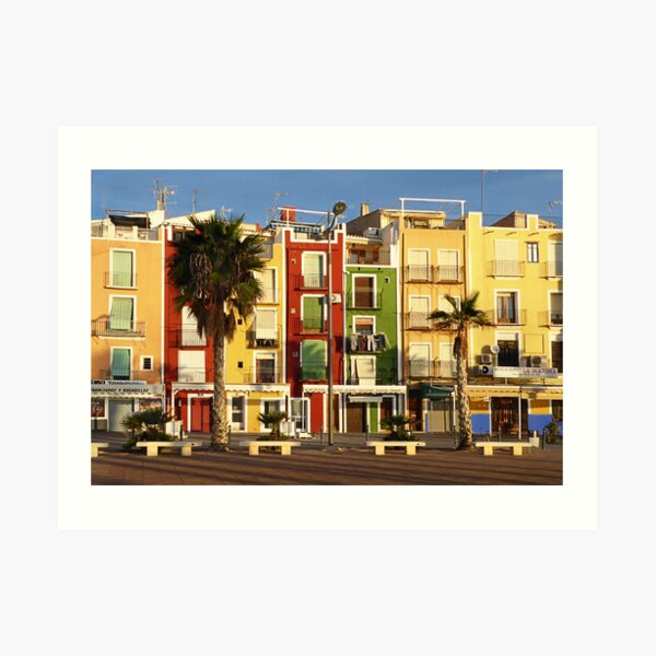 Colour on the Costa Blanca Art Print