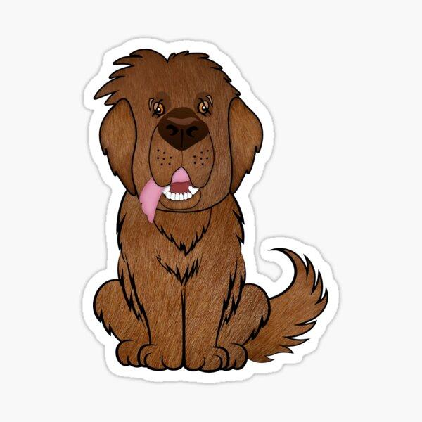 Brown Moose Newf Sticker