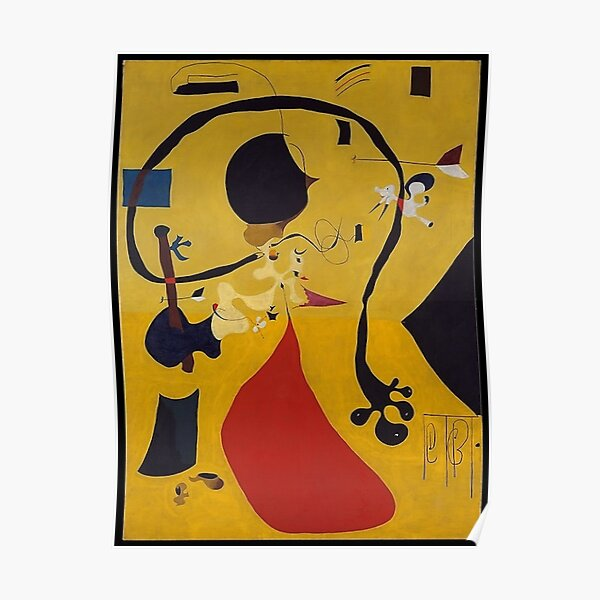 Dutch Interior III Joan Miro Poster