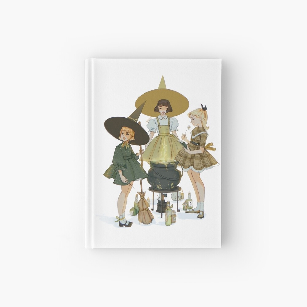 vintage witches ii Hardcover Journal