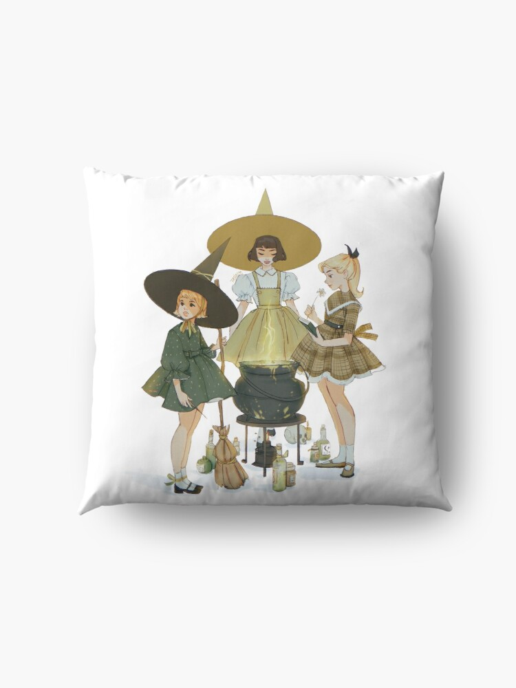 Alternate view of vintage witches ii Floor Pillow