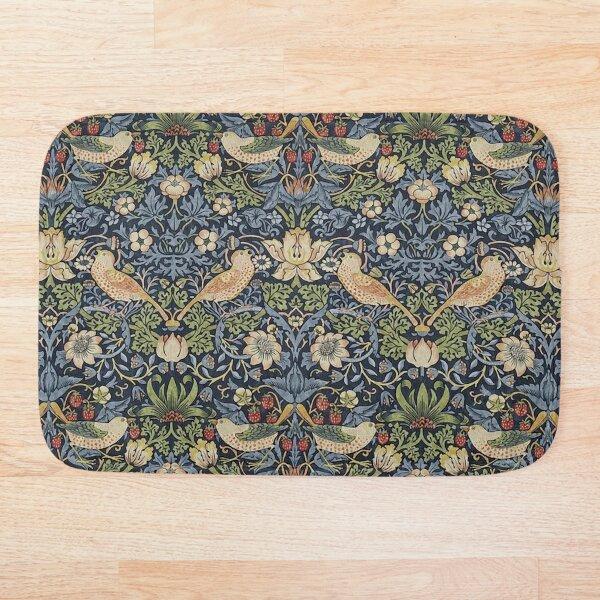 William Morris Strawberry Thief pattern Bath Mat