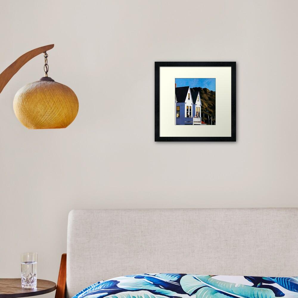 Second Story Sunlight-Edward Hopper Framed Art Print