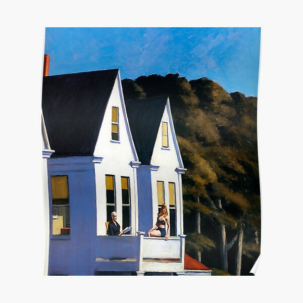 Segunda historia Sunlight-Edward Hopper Póster