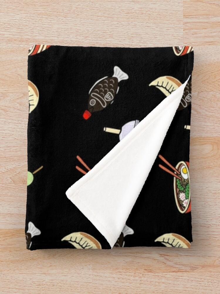 Alternate view of Japanese Food & Drink Throw Blanket