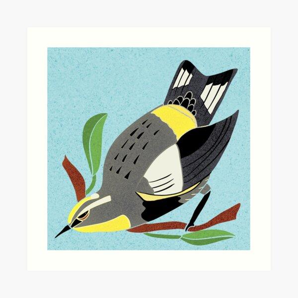 Yellow Bird Audubon Warbler Songbird 3 of 9 Art Print