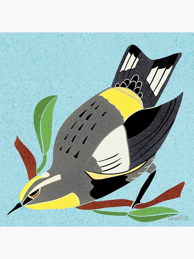 Yellow Bird Audubon Warbler Songbird 3 of 9 by Sheri42