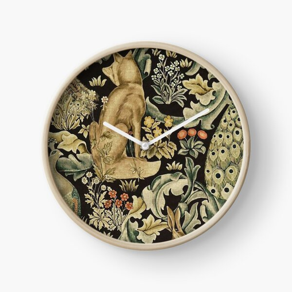 William Morris forest fabric Clock