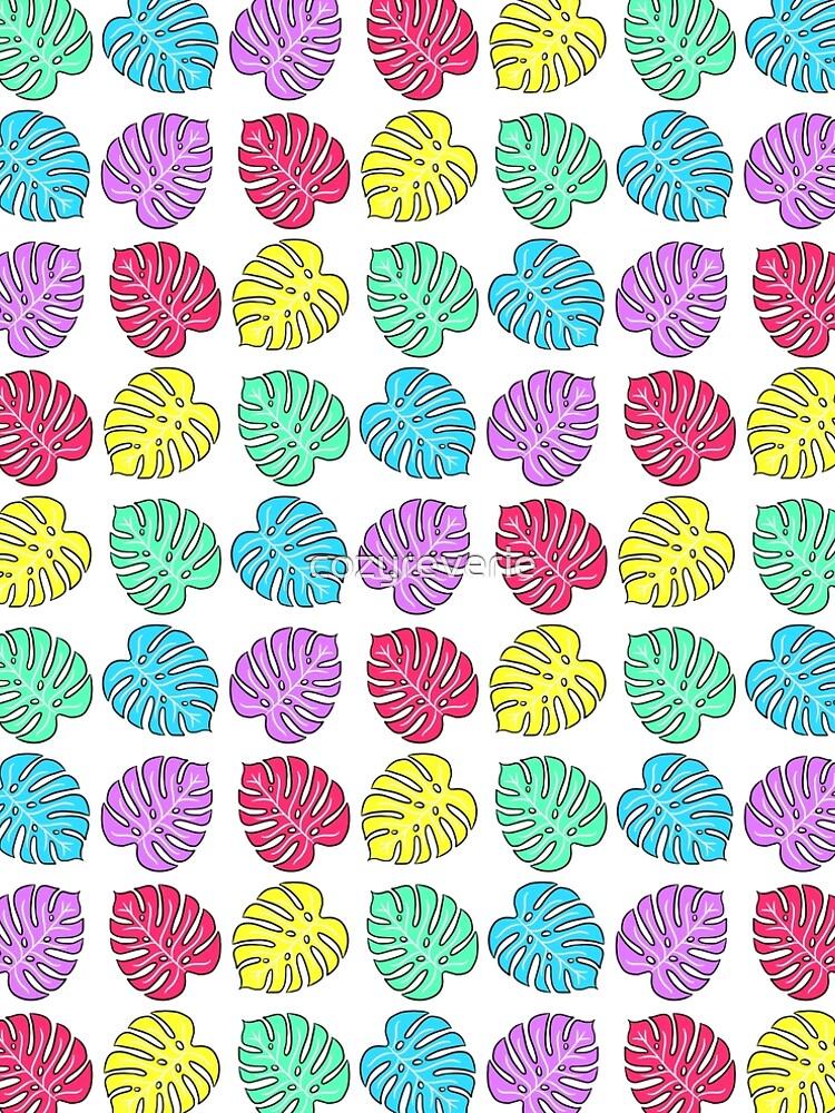 Rainbow Monstera Deliciosa by cozyreverie