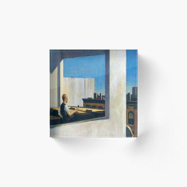 Office in a Small City-Edward Hopper Acrylic Block