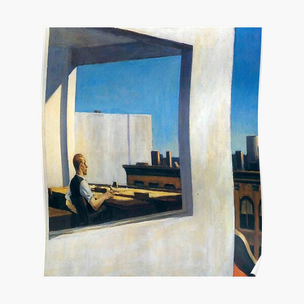 Office in a Small City-Edward Hopper Poster