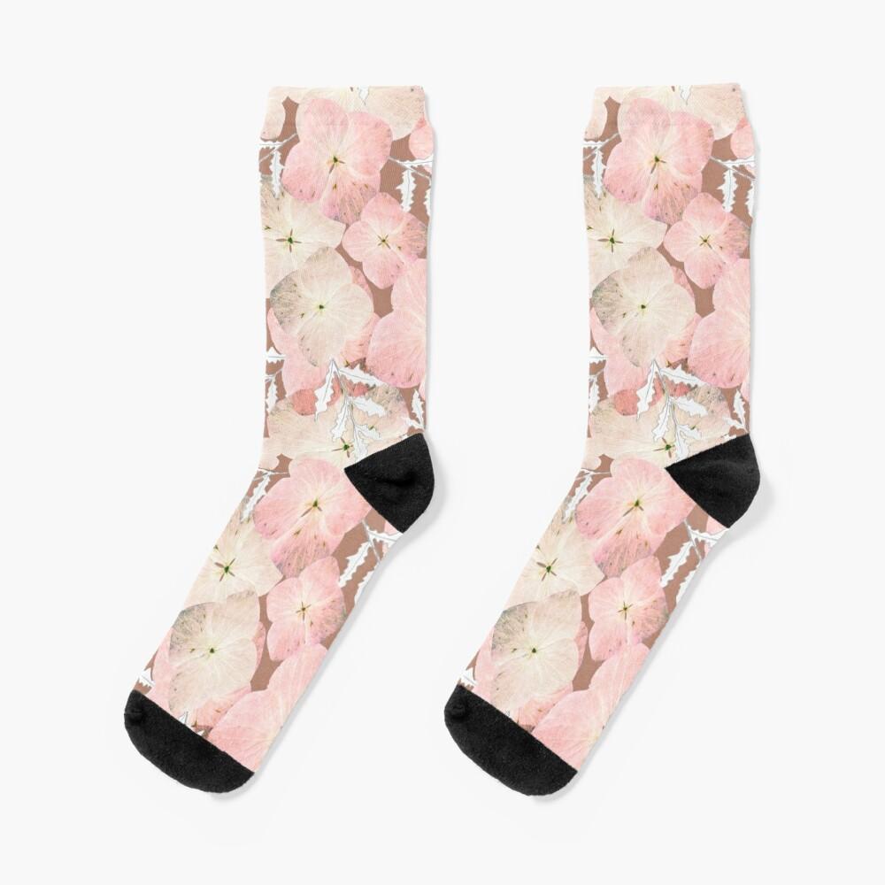 Hortensie Pastell Socken