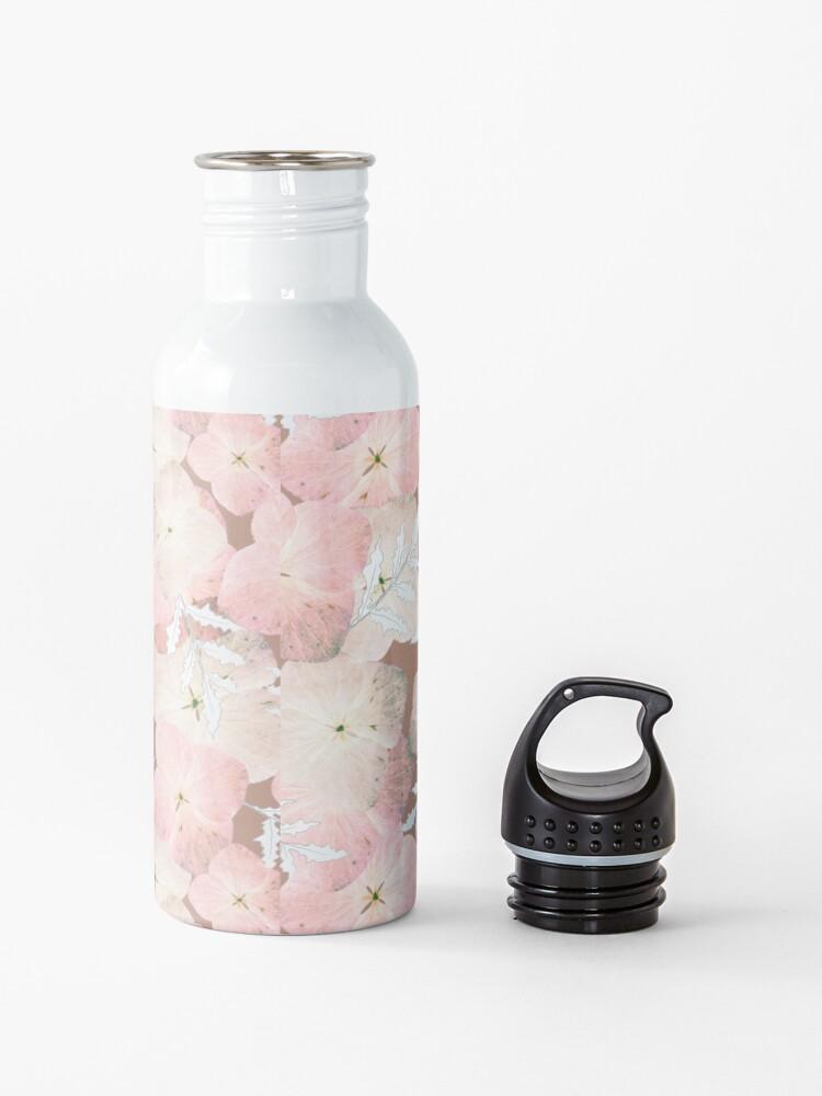 Alternative Ansicht von Hortensie Pastell Trinkflasche
