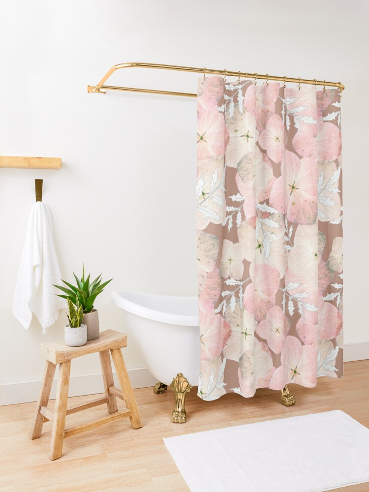 Alternative Ansicht von Hortensie Pastell Duschvorhang