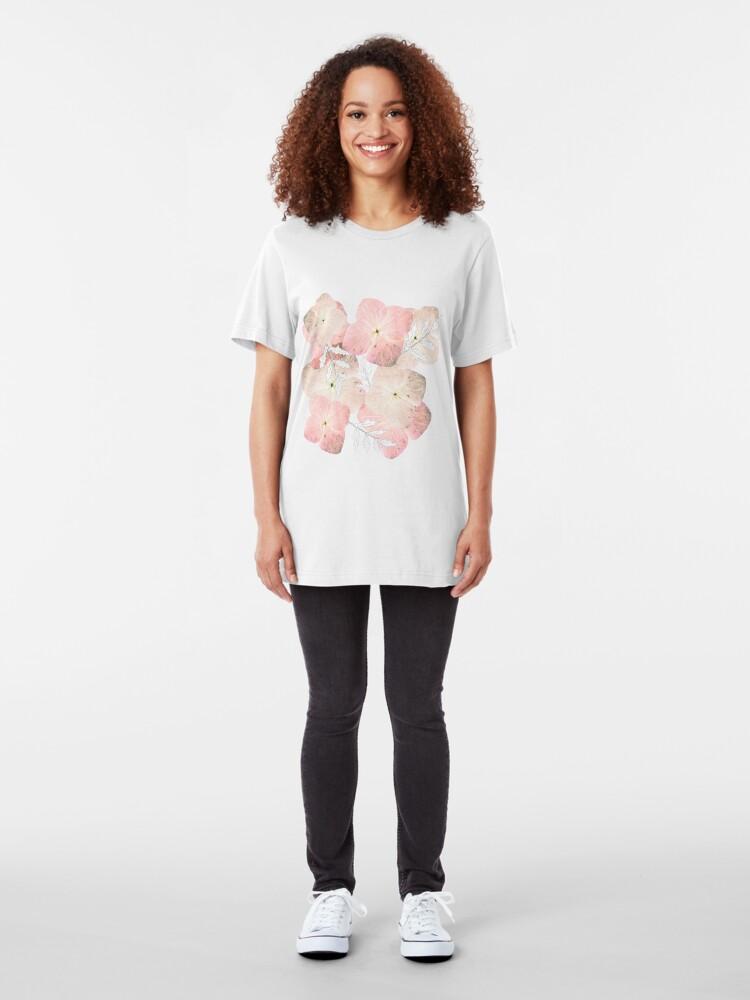 Alternative Ansicht von Hortensie Pastell Slim Fit T-Shirt