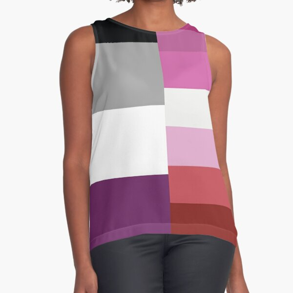 Asexual Lesbian Flag Sleeveless Top