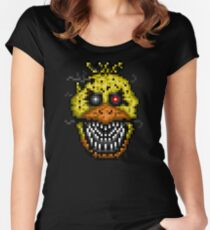Five Nights at Freddys 4 - Nightmare Cupcake - Pixel art Women's Fitted Scoop T-Shirt