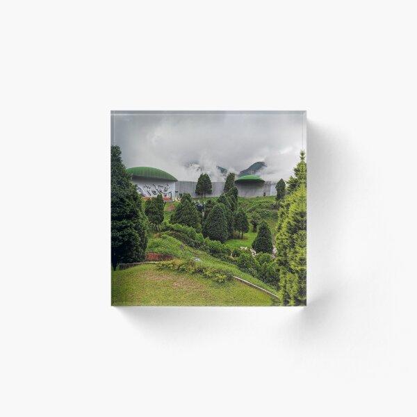 Perspective bending park in Japan Acrylic Block