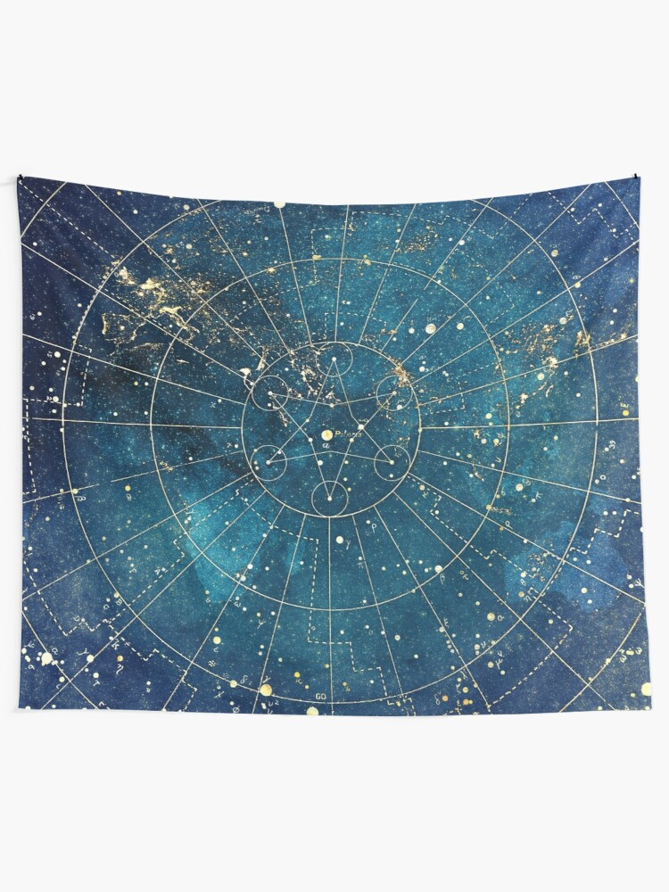 Alternate view of Star Map :: City Lights Tapestry